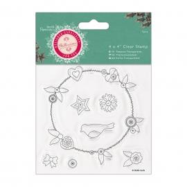 Set 7 piezas sello cristal Bellisima Christmas