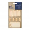 Etiquetas de madera
