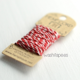 Bakers Twine HEMPTIQUE 6 m Rojo / Blanco