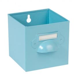 Caja de metal vintage azul