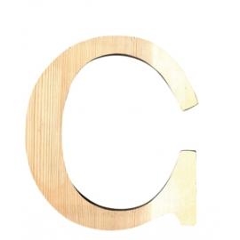 Letra de madera C 11,5 cm