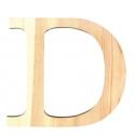 Letra de madera D 11,5 cm