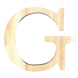 Letra de madera G de 11,5 cm