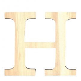 Letra de madera H de 11,5 cm