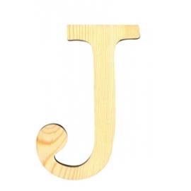 Letra de madera J de 11,5 cm