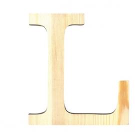 Letra de madera L de 19 cm
