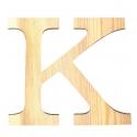 Letra de madera k de 11,5 cm