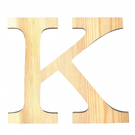 Letra de madera K de 19 cm