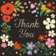 TARJETA y SOBRE GARDEN THANK YOU