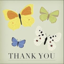 Tarjeta y sobre Butterfly Thank You