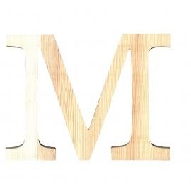 Letra de madera M de 19 cm