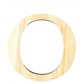 Letra de madera O de 19 cm