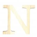 Letra de madera N de 11,5 cm