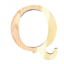 Letra de madera Q de 19 cm