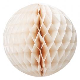 Bola de papel nido de abeja champán