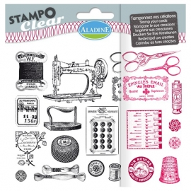 Set sellos Stampo Clear Costura retro