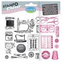 Set sellos Stampo Clear Costura retro