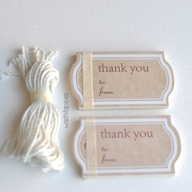 SET 20 MINI ETIQUETAS THANK YOU 2