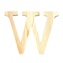 Letra de madera W de 11,5 cm
