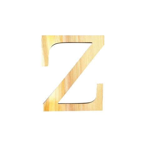 Letra de madera Z de 11,5 cm