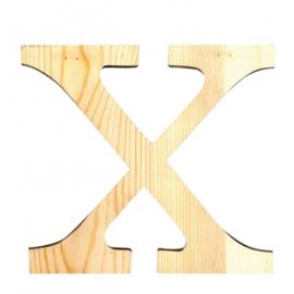 Letra de madera X de 19 cm