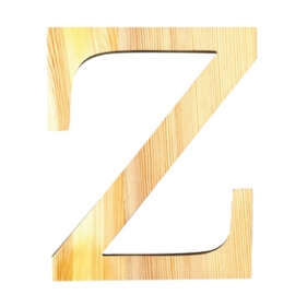 Letra de madera Z de 19 cm