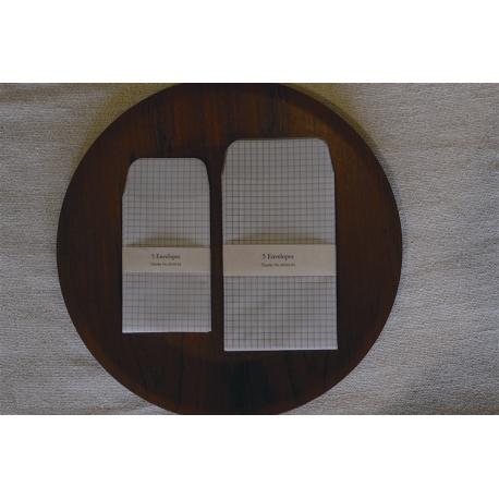 Set de 5 sobres Classiky cuadrícula 9x14cm