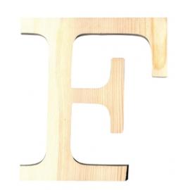 Letra de madera F de 11,5 cm