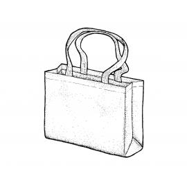 Bolsa algodón 38x40x10cm.