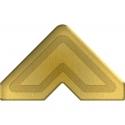 Esquinas adhesivas papel oro