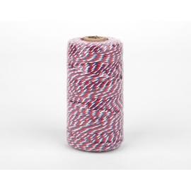Cordón algodón twine version 2 azul y rojo
