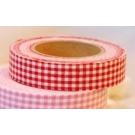 Dailylike Fabric tape Gingham check red