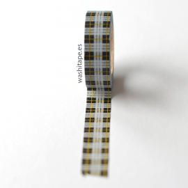 MT masking tape checked tartan black
