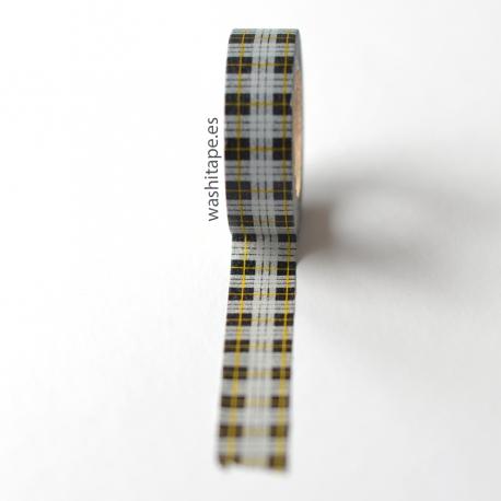 MT masking tape checked tartan black