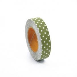 Dailylike Fabric tape Dot ground green