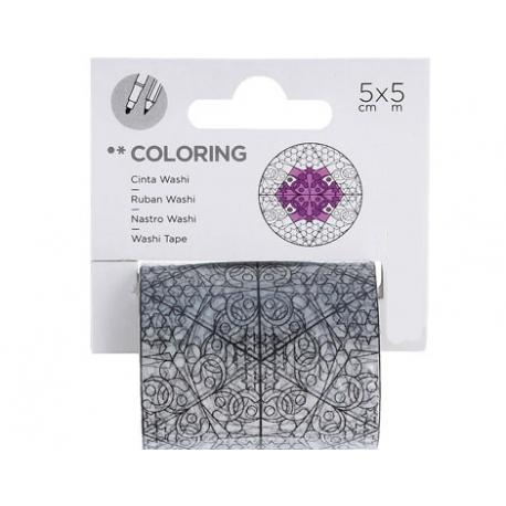 Cinta washi tape para colorear COLORING Estrellas
