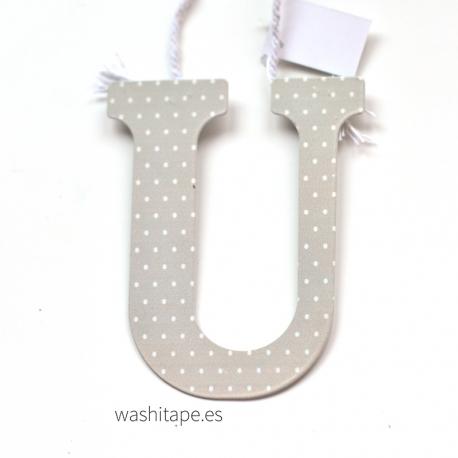 Letra de metal U 10 cm