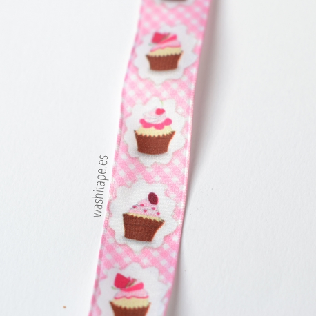 Cinta Cupcakes 40 mm rosa