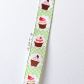 Cinta Cupcakes 10 mm verde
