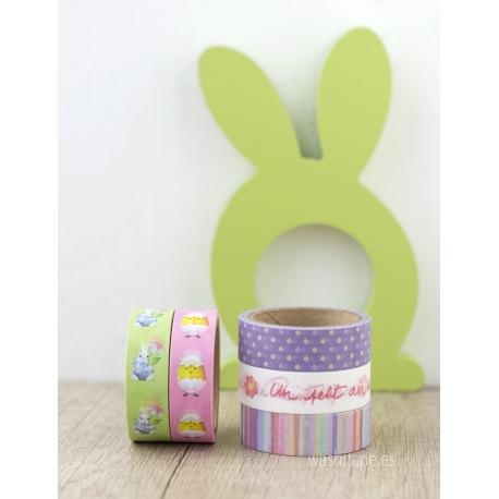 Set 5 Masking tape Spring Agua