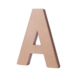 Letra A papel maché con volumen