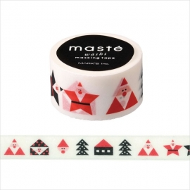 Christmas Japanese Masking Tape Triangle Santa Claus