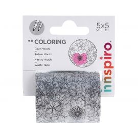 Cinta washi tape para colorear COLORING Estrellas