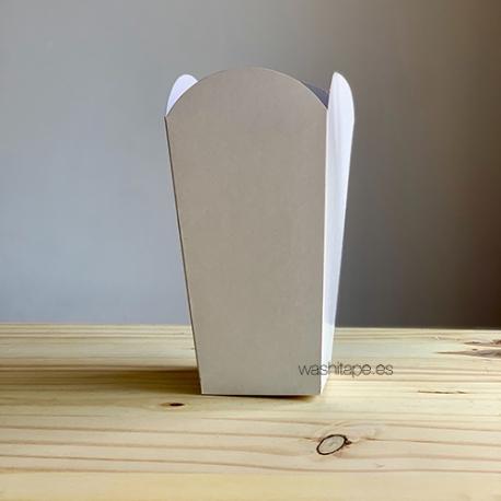 Caja Palomitas Mediana Blanca