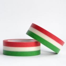 Wt* washi tape Tricolor verde y rojo