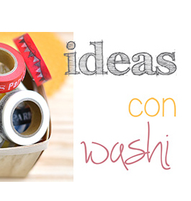 Ideas con washi tape